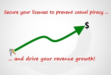 Secure your licenses to prevent casual piracy and drive revenue growth!